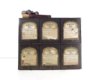 Vintage Metal Pharmacy Cabinet / Industrial Storage