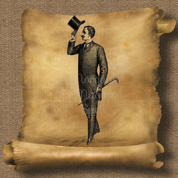 Vintage Gentleman Royalty Free Clipart