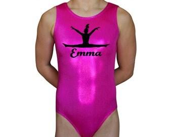 Gymnastics Leotards Personalized  Girls Mystique Leap Leotard Gymnast Dance leotard Mystique by AEROLeotards