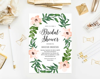 Romantic Vines Bridal Shower Invitation