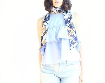 vintage silky retro neck scarf