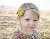 Create Your Own,Felt Flower Headband,Felt Rose Headband for Newborns Baby Infant Toddler Girls Women,Single Rose Headband