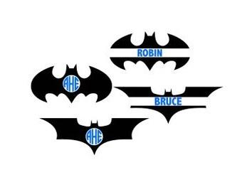 Batman Monogram Svg, Batman Svg, Batman Cutting File, Superhero Svg, Cricut Files, Silhouette Files