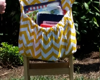 Corn YELLOW ChEvRoN // Chair Pockets // Teacher Classroom Organization <<16 inch PREMIUM>> Seat Sacks / End of Year SALE // CoffeeKidsNDolls