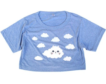 Cloud Kitty Cropped T-shirt