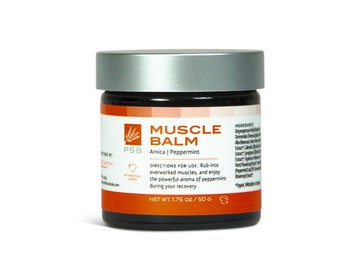 Muscle Balm - Natural Peppermint Salve with Arnica & Calendula - 1.75 oz.