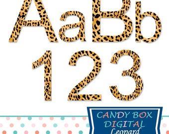 Leopard Alphabet Clipart, Animal Alphabet Clip Art - Commercial Use OK