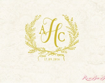 Custom Wedding Monogram - Wedding logo - Digital item