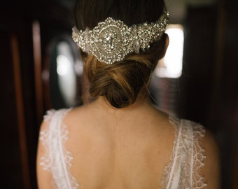 Methody - Bohemian Embroidered Crystal Wrap Headpiece