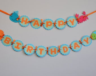 Under the Sea Birthday Party Banner Ocean Party
