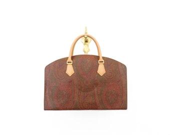 SPECIAL PRICE *** ETRO Vintage Etro Milano Paisley Canvas Leather Bag