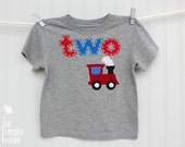 boy's train shirt, train birthday t, first birthday shirt, boy's number tee, red train party, heather grey, one shirt two shirt, 1st 2nd 3rd