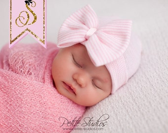 NEWBORN BOW, newborn bow hat, baby girl newborn hat hat, girl newborn, baby girl newborn outfit, girl newborn photo prop, baby girl newborn