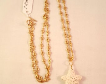 Sun and Star long necklace and pendant
