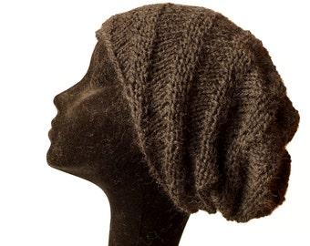Baby Alpaca Beanie Hat, Slouchy Beanie Hat, Womens Hat