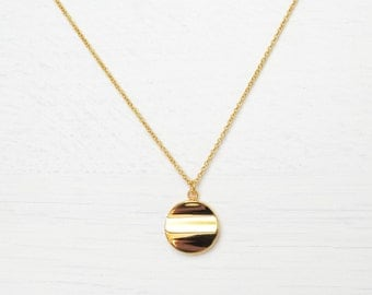 Gold Plated Circle Necklace // Gold Necklace // Simple Gold Necklace // Simple Gold Jewelry // Gold-Plated Necklace // Gold-Plated Jewelry