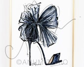Fashion Illustration Print, Jimmy Choos, 8x10""