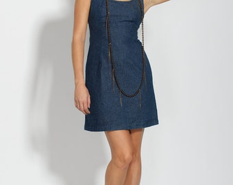 Circa 1990s Denim Babydoll Dress - Made in Italy - Size 4