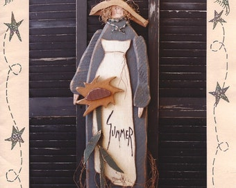 "Country Thoughts - Summer -  Wood Pattern - 45"" Tall - Designer Jodi Gadoury"