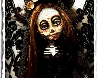 Day of the Dead Art Doll - Gothic - OOAK - Day of the Dead Bride