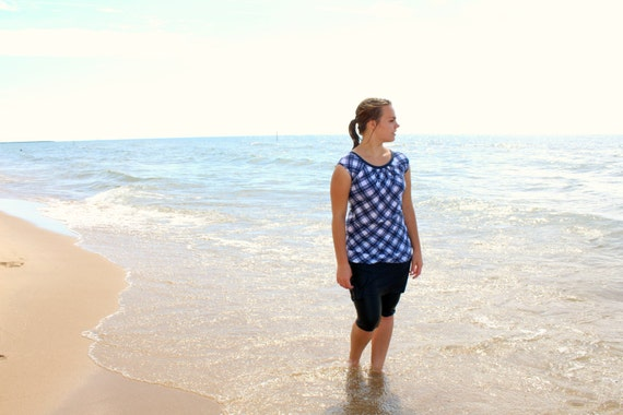 SwimBottoms - Modest Swimwear Leggings with Attached Skirt - Womens Swimsuit