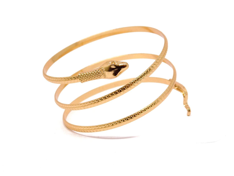 snake arm cuff gold snake bracelet snake arm band open cuff