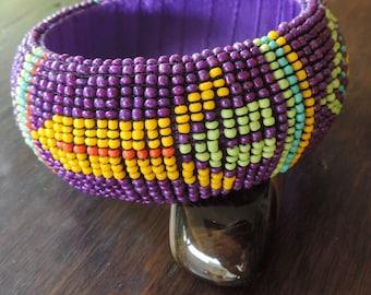 Inspiration Maasai rocailles pearls bracelet