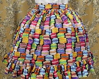 Rainbow Macaron Lolita Skirt