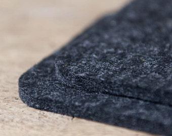Felt Coasters quadrat rounded 10x10 cm anthracite black square