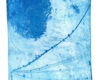 Swallows, An original etching.