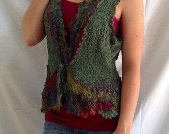 Leah Dziewit Artwear Original Handmade Silk VEST