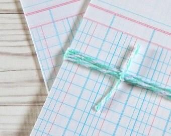 Vintage Ledger Paper Note Cards. Vintage Ephemera. Ledger Paper. Accounting Ledger. Vintage Paper. Junk Journal Supply. Scrapbook Ephemera.