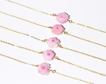 SALE Druzy Necklaces -- Druzy Choker Necklace -- Druzy Jewelry Supplies Wholesale Geode Bridesmaid Necklaces DJ