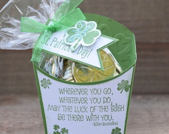 St. Patrick's Day Treat Box, Luck of the Irish Party Favor, St. Patrick's Day Party Favor, St. Patrick's Day Fry Box (Set of 12)
