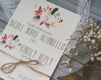 FLORAL|Wedding Invitation Set #34