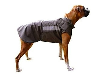 Boxer Extra Warm Winter Dog Coat - Large Dog Jacket - Custom made Dog Winter Coat - Waterproof / Fleece - Custom made for your dog