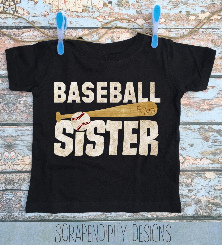 Baseball Sister Shirt Girls Baseball Outfit Toddler