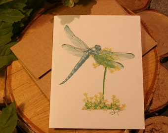 Greeting card for any occasion, dragonfly