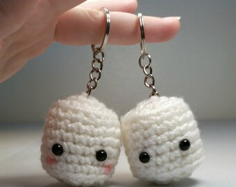 Amigurumi Marshmallow, Crochet Marshmallow, Marshmallow Keychain, Crochet Amigurumi Marshmallow, Kawaii Marshmallow Plushie Plush