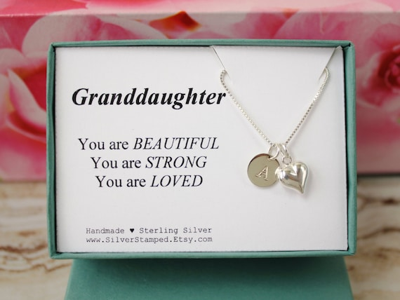 Gift For Granddaughter Sterling Silver Necklace By