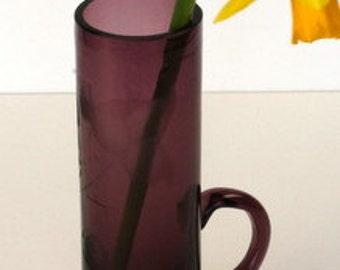 Amethyst Cut Glass Bud Vase