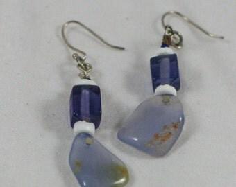 Blue Chalcedony Earrings (ESChal1)