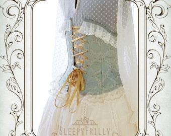 Charlotte Rococo - Rococo inspired corset cincher M (made to order)