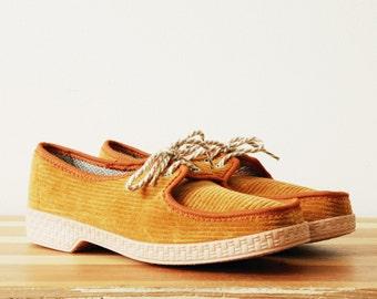 RESERVED -- EU 42 43 US 9 9.5 10 uk 8.5 9 vintage Soviet unisex shoes espadrilles boat slipper camp penny loafer mocs mocassins sneakers