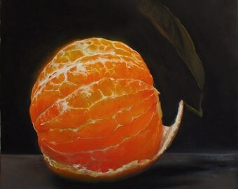 "Gallery caliber Print from Oil Painting by Yuliya. Canvas Giclée Print 40x40"" - ""Tangerine"""