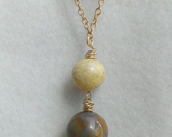Jasper and Tiger's Eye Handcrafted Necklace