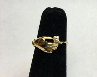14 kt solid gold Diamond Solitarie ring /14kt gold engegament ring /14 kt promise ring/14kt gold ring/diamont ring/ custom hand made jewelry