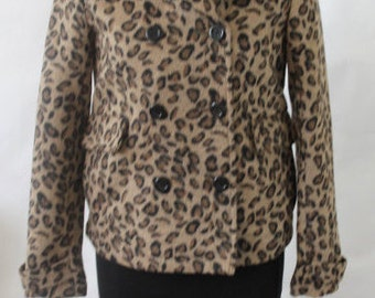 Leopard Coat Double brest / Blazer / Urban Outfitters