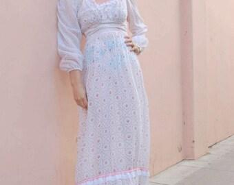 1970s ROSE PRAIRIE DRESS