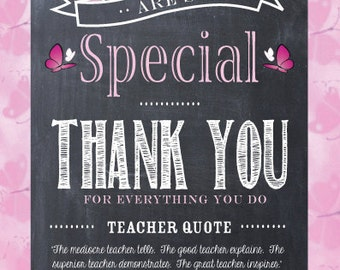 Teacher Appreciation Thank You Card